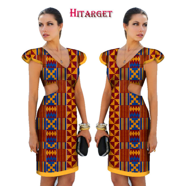 Us 45 68 2019 New African Dresses For Women Ankara Wax Printing Fabric Batik Dresses Fashion Printing Short Sleeve Dress Clothing Wy1508 In Africa