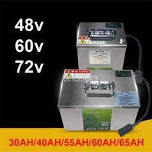 48V/60V/72V Lithium Battery For Two/Three/Four Wheel Electric Vehicle Bike Bicycle 30AH/40AH/55AH/60AH/65AH