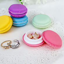Storage-Box Organizer Jewelry Macarons Ring Necklace Carrying-Case Candy-Color Mini Portable