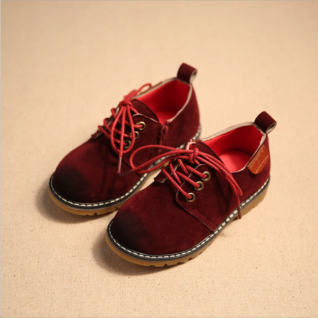2017 England Style Boys & Girls Suede Shoes Top Quality Children Cow Muscle Bottom Shoes Fashion Leather Shoes for Kids,RJ453