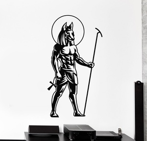 Image 1 - Vinyl wall applique ancient Egyptian god Anubis Egyptian decorative stickers home decor living room bedroom wall stickers 2AJ11