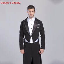 Ballroom Dance Jacket Retail individual For Men Ballroom Tuxedo Tail international Standard Dance 1 pcs.Free Delivery