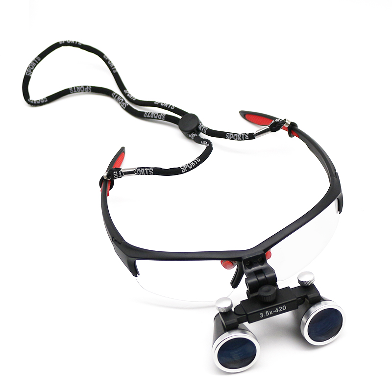 2.5X 3.5X Dental Loupe Surgery Loupe with Dental Headlight Flip Up Magnifier Medical Loupe Oral Cavity  Dentist Surgery