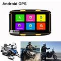 Гнездо 5 дюймов IPS экран мотоцикл GPS навигации Android 4.4.2 с WI-FI bluetooth FM водонепроницаемый IPX7 Allwinner A33