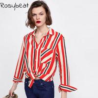 Women Tops and Blouses Long Sleeve Shirt 5xl Vertial Stripe Turn Down Collar Female Blusas Buttons 6xl Plus Size Women Clothing