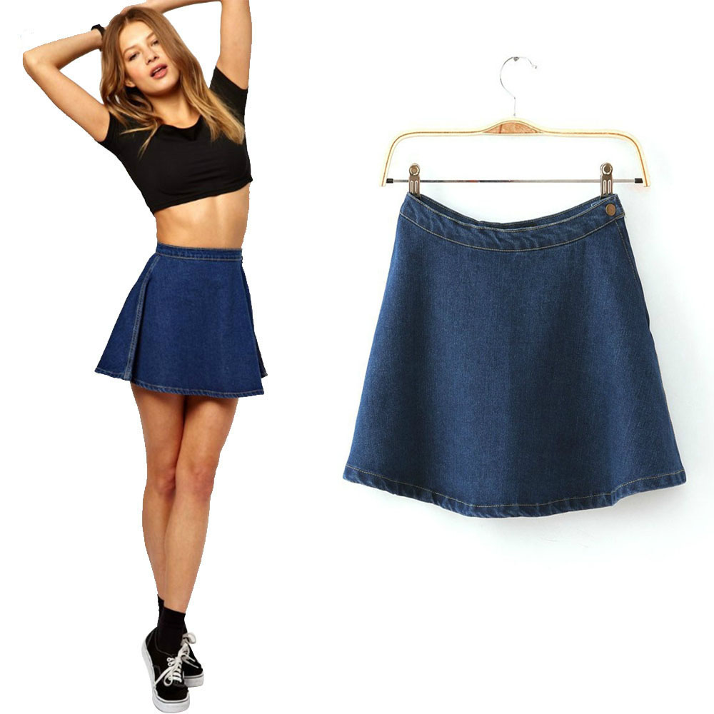 Online Buy Wholesale denim circle skirt from China denim circle ...