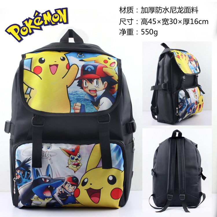 Novelty & Special Use Costumes & Accessories Rapture Anime Pokemon Nylon Backpack Pikachu Cosplay School Shoulder Bag Children Plush Backpack