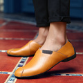 Men Autumn Flats Fashion Genuine Leather Oxford Shoes Male Casual Slip On Loafers Dress Moccasins Sales