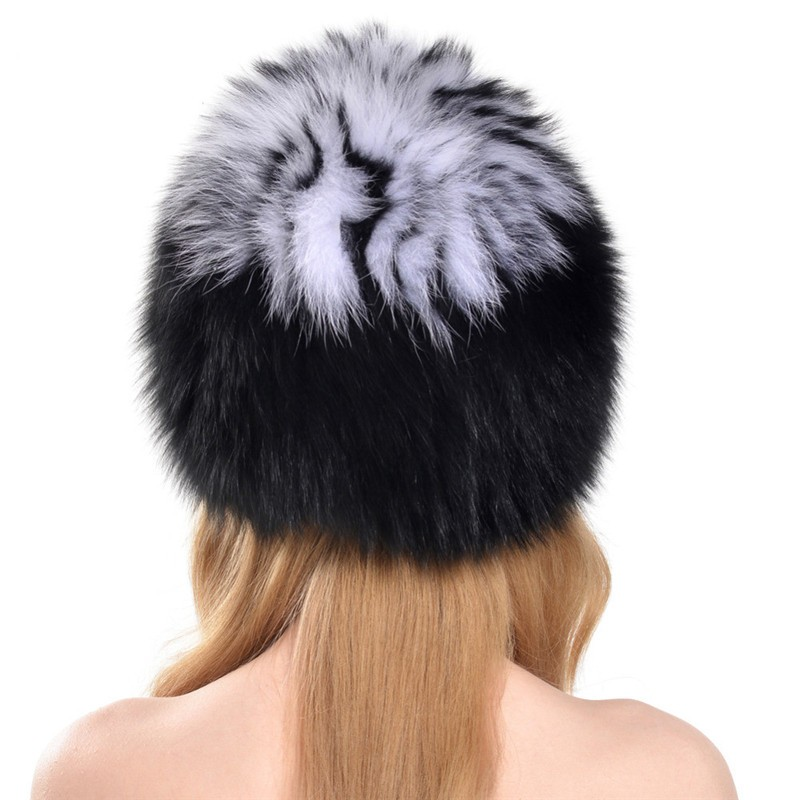QUEENFUR-Women-Winter-Fox-Fur-Hats-Genuine-Fox-Fur-Knitted-Beanies-2016-New-Design-Russian-Style (2)