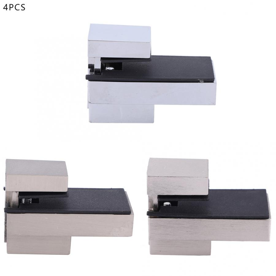 F Type Square Glass Shelf Bracket for 10mm thick glass 4PCS 8 Inch S.S
