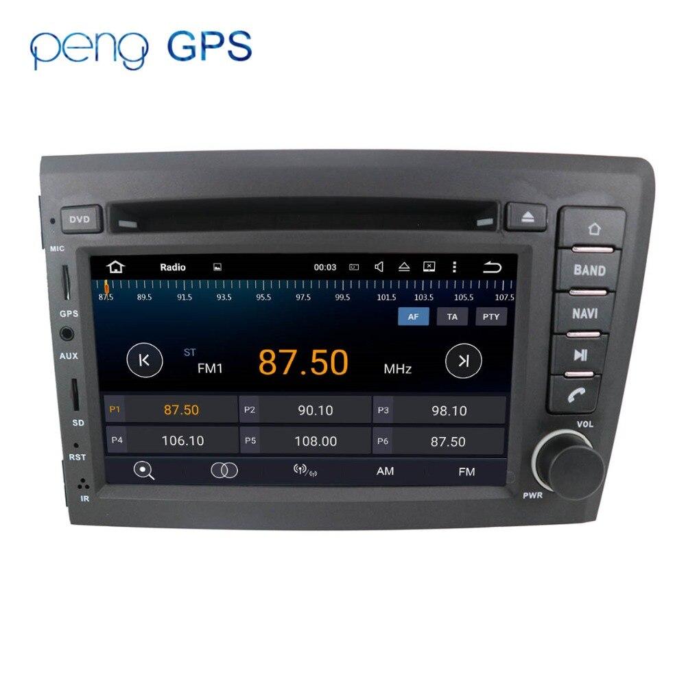 Autoradio Android 8.0 7.1, navigation GPS, FM, lecteur multimédia, vidéo, DVD, unité centrale, stéréo, sans lecteur, pour voiture VOLVO S60, V70, XC70 (2000-2004)