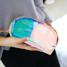 US $2.18 20% OFF|1 PC Semicircle Shape Cosmetic Bag for Women Colorful laser Makeup Pouches Zipper Travel Organizer Toiletry Wash Beauty Storage-in Cosmetic Bags & Cases from Luggage & Bags on AliExpress
