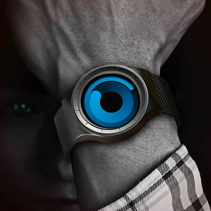 SINOBI Marque New Creative Rotation Hommes Montres En Acier Inoxydable Maille Bracelet À Quartz Sport Mode Horloge Relogio Masculin