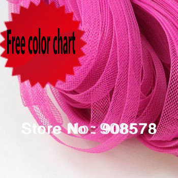 "Free Shipping 5/8"" 1.5cm Plain Veil Fascinator Hat Horsehair Braids crinoline 100yard/lot #31Color"