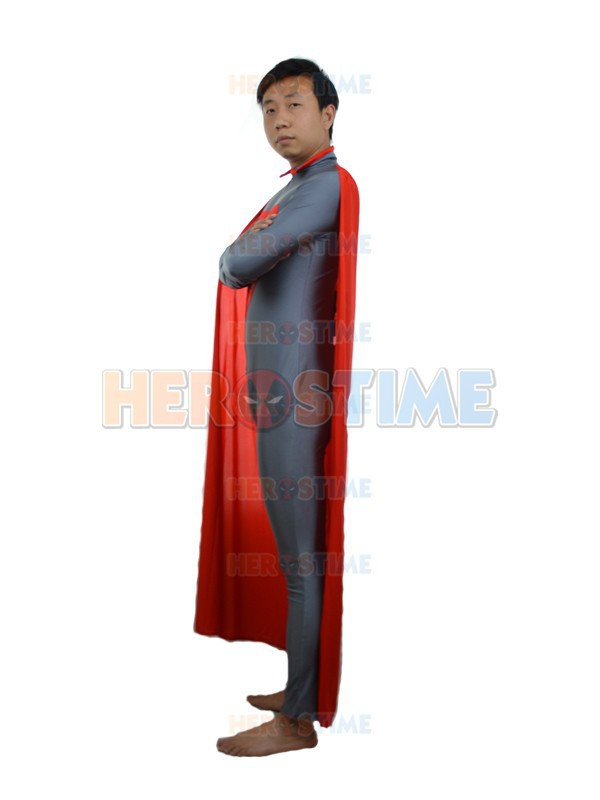 Gray & Red New Style Superman Kostüm Fullbody Spandex Superman - Kostüme - Foto 2
