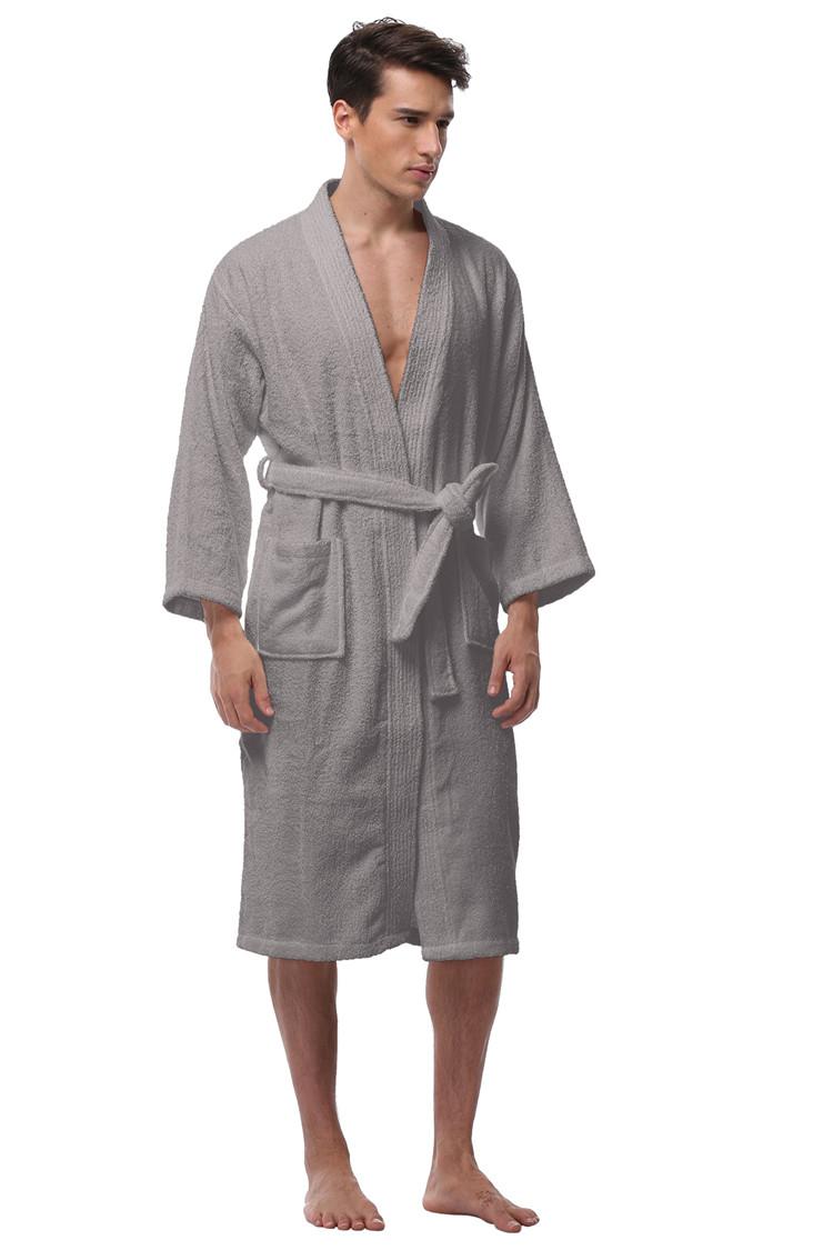 db6ed18e29 Men S Kimono Bathrobe Turkish Cotton Robes Plus Size Lightweight ...