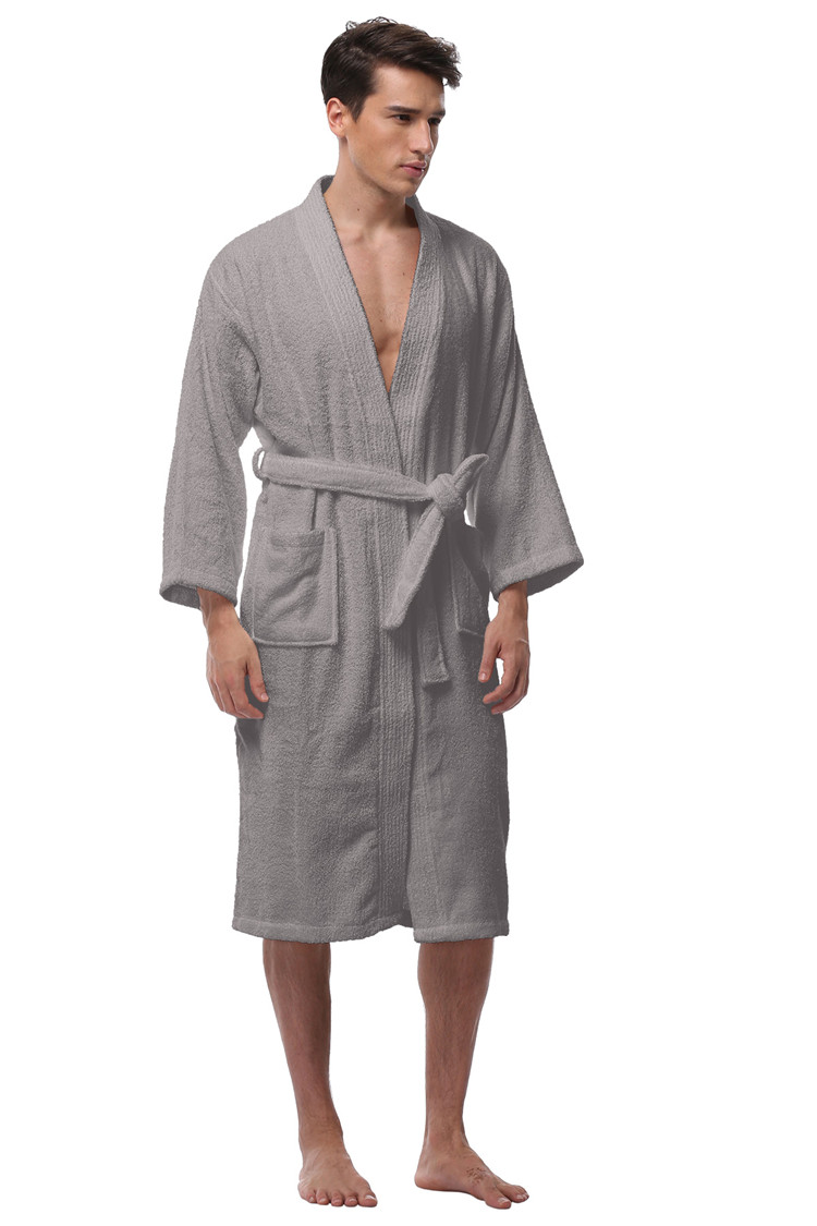8313f7b12b Men s Kimono Bathrobe Turkish Cotton Robes Plus Size Lightweight ...