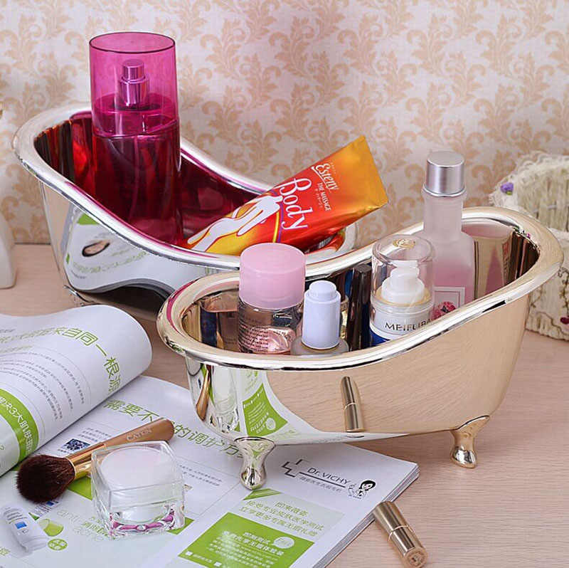 Soap Storage box Bathroom Accessories Mini Bathtub Storage Box Toothpaste Toothbrush Cosmetic Makeup Tool Storage box