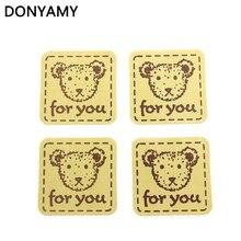 DONYAMY 160 Uds pegatinas retro marca Kraft pegatina lindo oso para ti para regalo pastel para hornear de Sticke