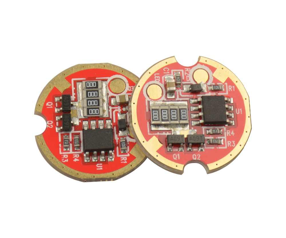 21mm 3.7V 4.2V 3A Flashlights & Torches driver Circuit Board 6 modes DIY for MCE XM-L2 U2 T6 XPL LED Emitters (2pcs In pack)