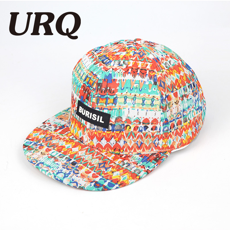 URQ Dancing Hip Hop Cap for Kids Spring Men Women Outdoor Hiphop Caps Hat Printing Snapback Hats adjustable Fashion Style ZZ4063 sn su sk balck white printing color winter hats for women