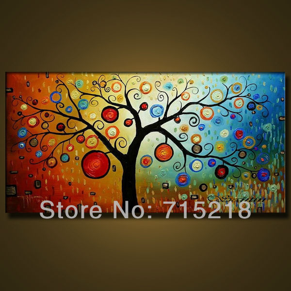 Free Shipping Quality Guaranteed Tree Of Life Oil Paintings On