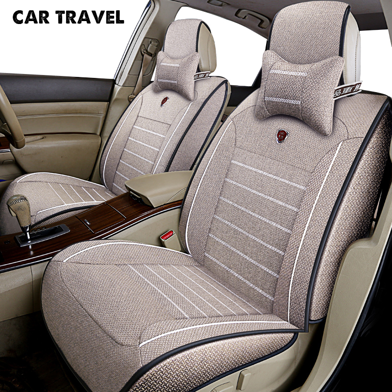 CAR TRAVEL flax car seat cover for skoda octavia 1 2 a5 a7 fabia 2 3 karoq kodiaq octavia rs superb auto accessories car-styling