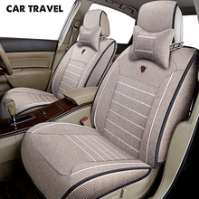 Cubierta de lino para asiento de coche, accesorio de coche para skoda octavia 1 2 a5 a7 fabia 2 3 karoq kodiaq octavia rs superb