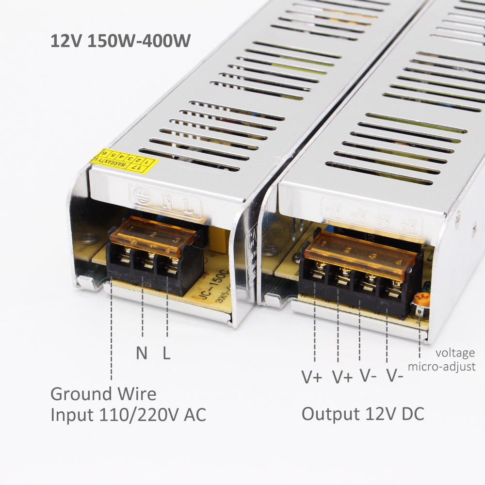12V Power Supply Unit Lighting Transformer 60W 200W 360W LED Driver AC110V 220V to 12 Volt for LED Strip Switching Power Adapter in Lighting Transformers from Lights Lighting