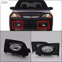 JanDeNing Car Fog Lights for Honda Civic 2/4DR 2001~2003 Clear Halogen bulb:H11 12V 55W Front Fog Lights Bumper Lamps Kit