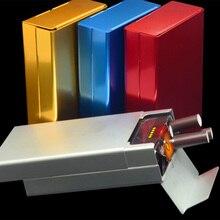 Тонкий Модный креативный чехол для сигарет, тонкий металлический футляр для сигарет, алюминиевая Подарочная коробка, дымчатый