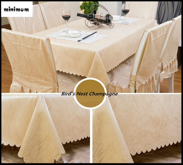 Super Fiber PU Leather Tablecloths Oil Proof Soft Table Cover Machine  Washable Waterproof Table Mats