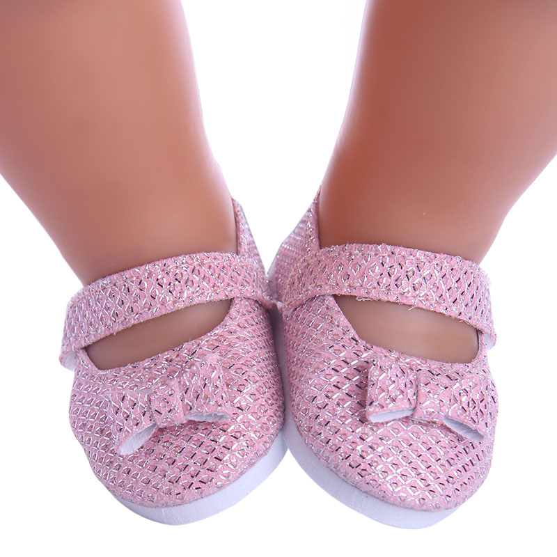купить New Style Pink Doll Handmade Bowknot Shoes Fit 43cm Lovely Baby Born Doll Clothes Children Best Birthday Gift