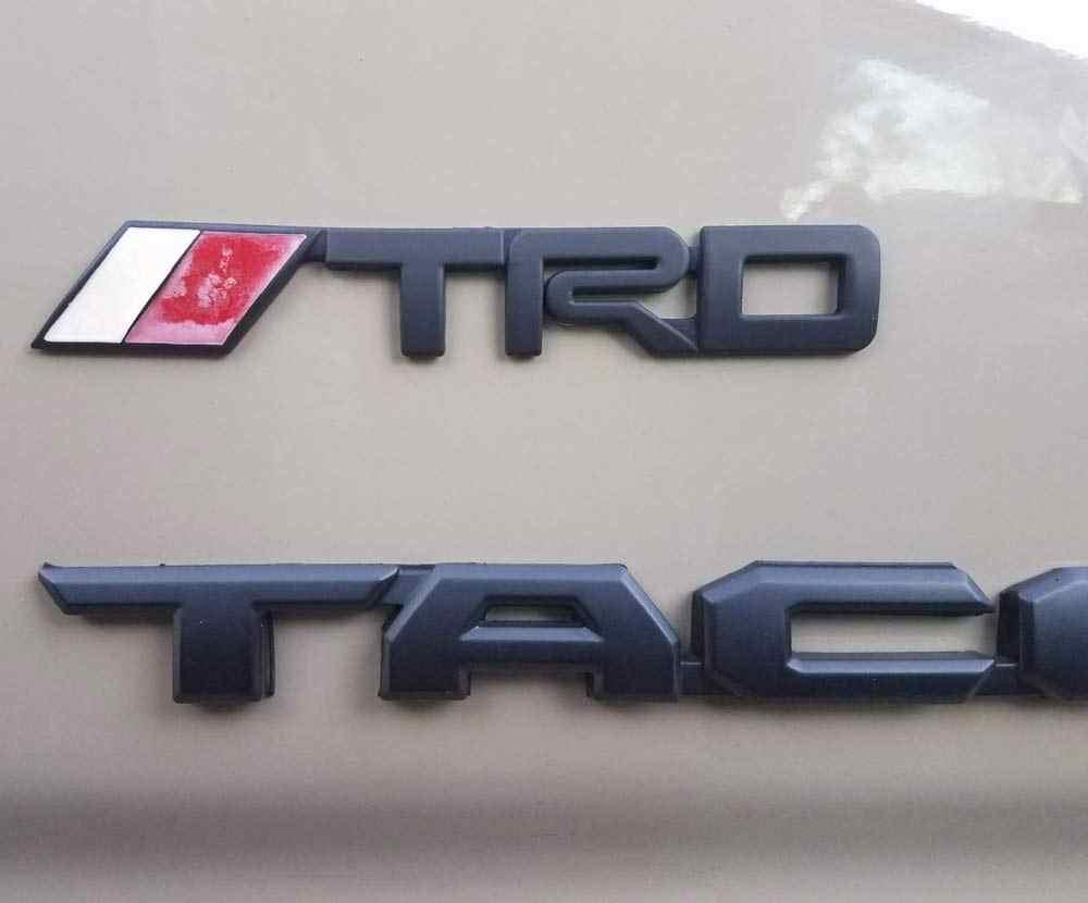 2Pcs TRD Emblems, 3D Plastic Logo Stickers Decals Badge for