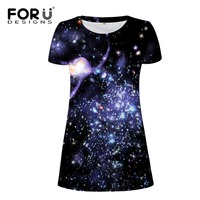FORUDESIGNS Brand Women Sexy Dress 3D Galaxy Night Club Dress Woman Dresses Clothes For Girl Ladies
