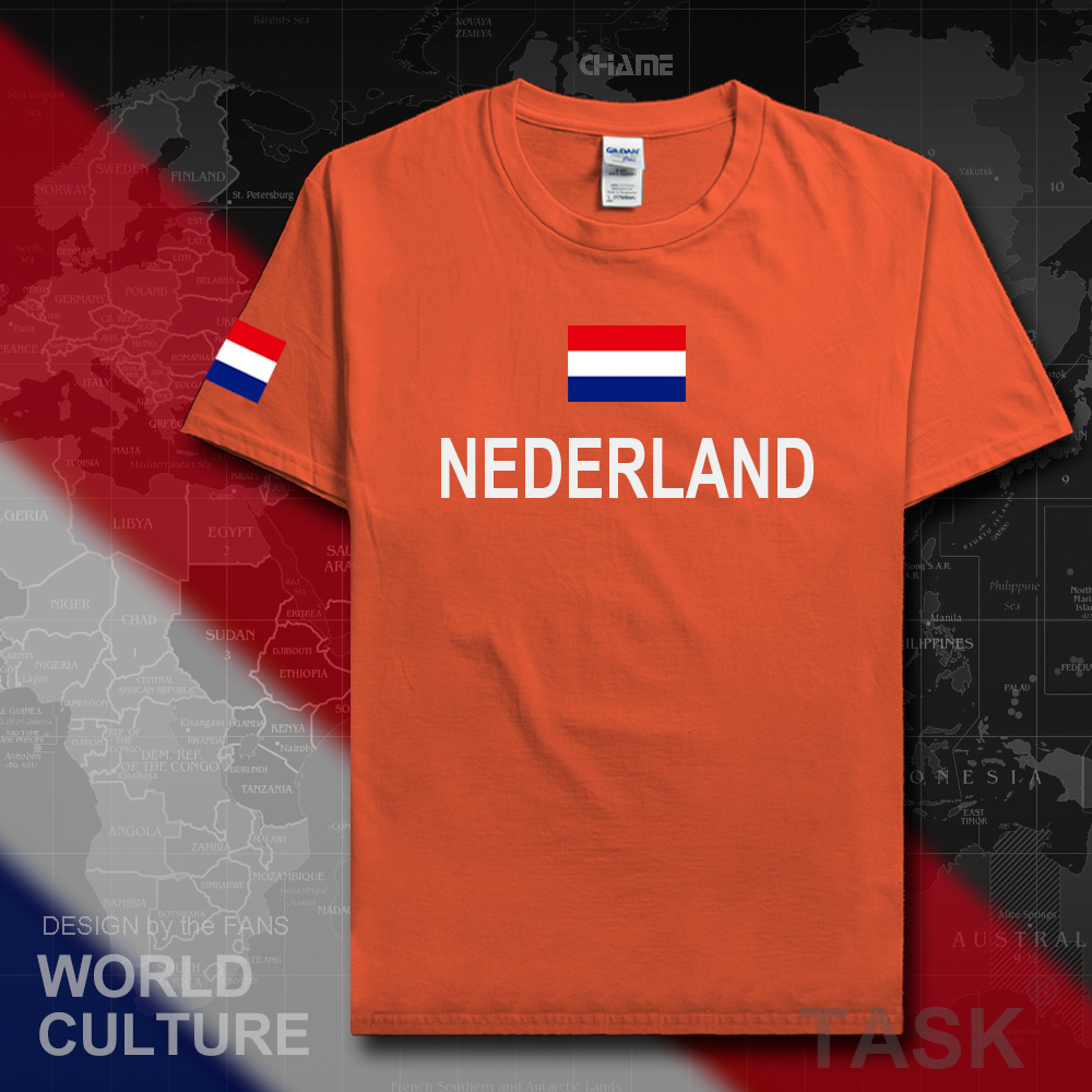 Netherlands Low Countries t shirt man jerseys 2017 t-shirt 100% cotton Dutch nation team ...