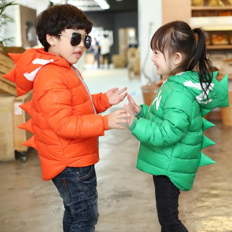 Winter Children Boys Jackets Cartoon Tyrannosaurus Girls Winter Coat Kids Outerwear Baby Boys/Girls Down Jacket Infant Clothes 15