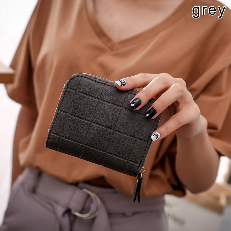 1 Pcs Women Lady Wallet Purse Short Design Zipper PU Leather For Coin Money Cards PO66