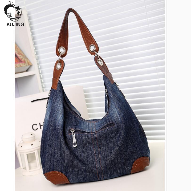 KUJING qualité sac à main rétro denim résistant à l'usure - Des sacs - Photo 1