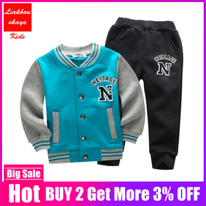 Image 2 - 2019 Fashion Height Quality New Year Costume For Boy Clothing Kids Tracksuit Autumn Winter Set Sports Suit Christmas Clothes