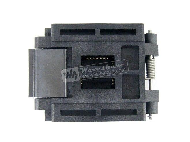 Parts QFP64 TQFP64 LQFP64 PQFP64 Enplas FPQ-64-0.5-06 QFP IC Test Burn-In Socket 0.5mm Pitch qfp64 tqfp64 lqfp64 open top structure burn in socket pitch 0 5mm fpq 64 0 5 06 test flash programming adapter