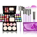 Cosmetic Set 7pcs Makeup Brushes,Eyebrow Palette Foundation Palette Blusher Lipstick Make UP Kit #BSEL