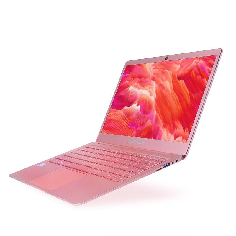 ZEUSLAP 14 дюймов розовый цвет ультратонкий металлический ноутбук 6 ГБ оперативная память 64 ГБ SSD четырехъядерный процессор Intel CPU оконные рамы 10