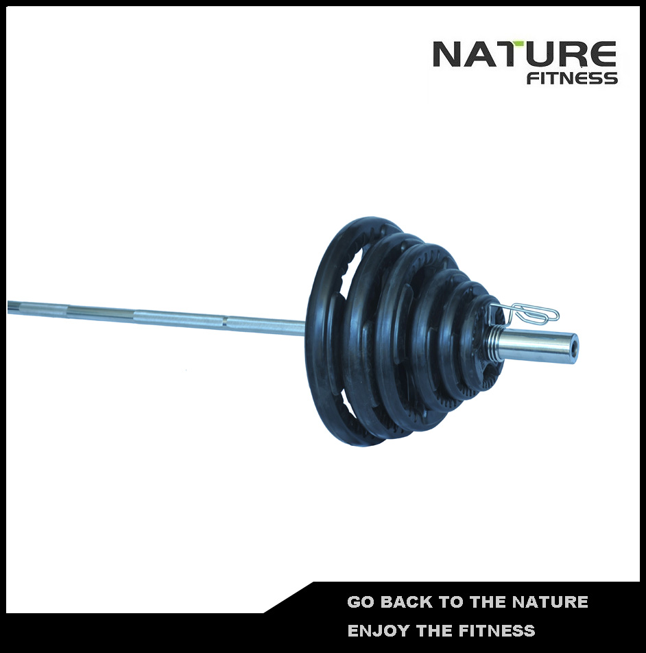 95kg Professional  Adjustable Gym Rubber Coated Barbell Weight plates Set Fitness Equipment for Weightlifting Strength Training