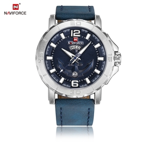 Image 5 - Top Luxury Brand NAVIFORCE Mens Sport Watches Casual Leather Strap Waterproof Military Quartz WristWatch Clock Male Reloj Hombre