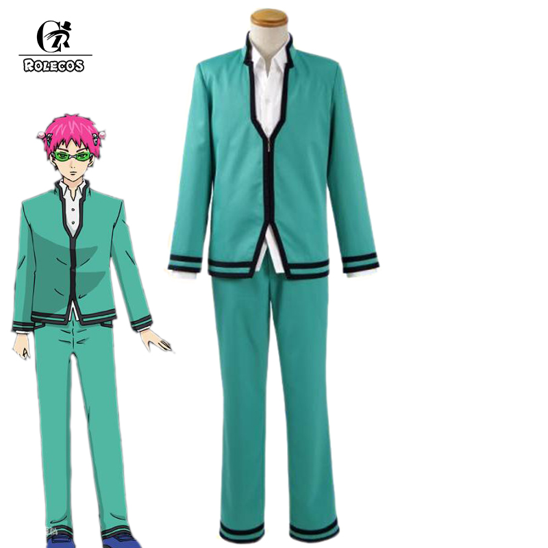 ROLECOS Anime The Disastrous Life of Saiki K 2 Cosplay Costume Saiki Kusuo no nan 2