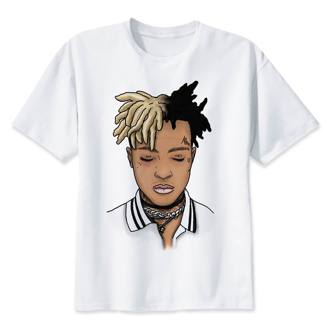 xxxtentacion R.I.P Character Print T-Shirt Fashion Casual Fitness Cool O-neck Men's T Shirt Summer Short Sleeve Men Clothing 2