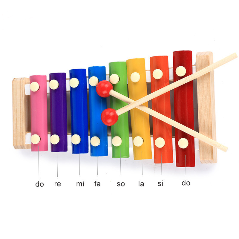 Learning Education Wooden Xylophone For Children Kid Musical Toys Xylophone Juguetes 8-Note Music Instrument