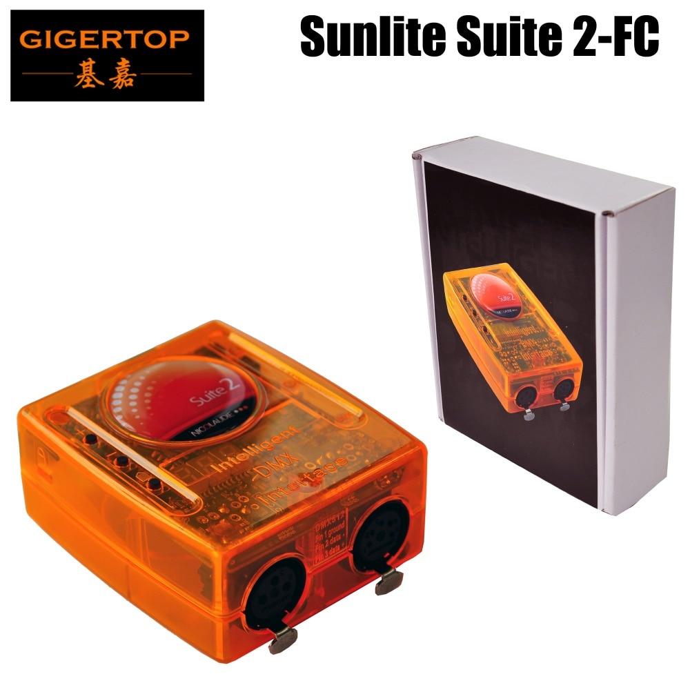 Free Shipping Sunlite Suite 2 FC Version With DMX 1536 Channels Full Mode 3D Visualizer USB DMX stage light Console Freeshipping контроллер dmx sunlite stick de3