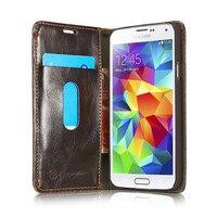 Luxury Original CaseMe Leather Magnet Flip Case For Samsung Galaxy S5 Unique Magnet Design Case For